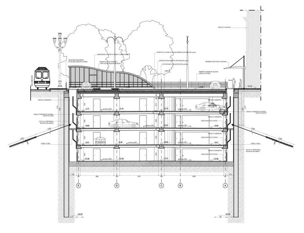 Torino porta nuova railway station archside - Parcheggio interrato ...